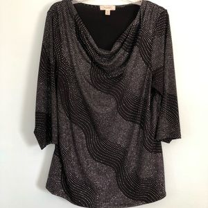 Dress Barn Glitter embellished Blouse Size 1Xl